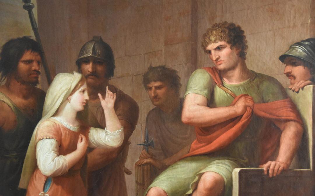 Seis pinturas de Flaugier sobre Santa Eulalia encuentran nueva casa en el MUHBA